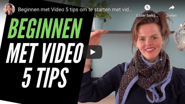 Beginnen met video 5 tips op YouTube
