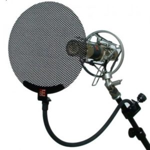 Popfilter metalen scherm voor microfoon podcast Zoom