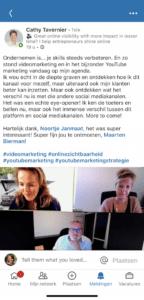 YouTube voor Bedrijven Testimonial Cathy Tavernier