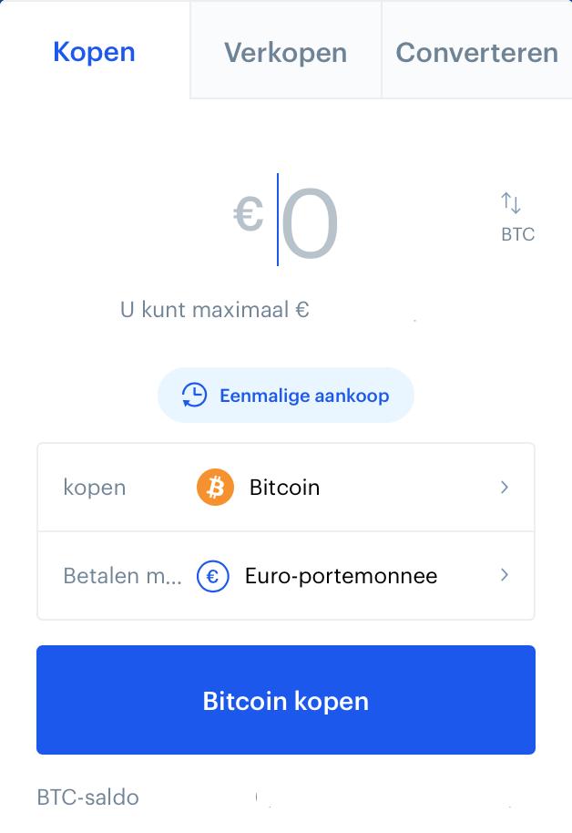 Bitcoins kopen met Coinbase