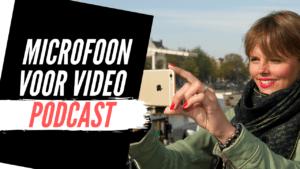 Microfoon voor Video Podcast